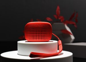 Roter Mini-Lautsprecher