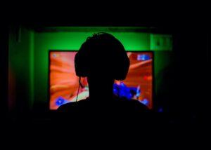 Monitor beim PC-Spiele